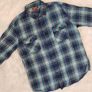 Arizona Blue Flannel / Plaid Button Down